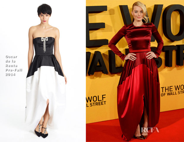 Margot Robbie In Oscar de la Renta - 'The Wolf Of Wall Street' London Premiere
