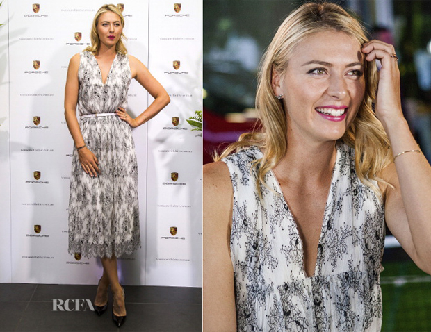 Maria Sharapova In Thakoon - Woman With Drive Porsche Event