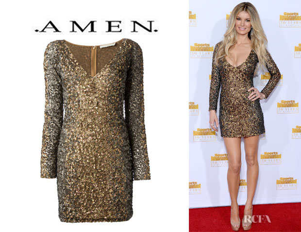 Marisa Miller's Amen Sequined Mini Dress