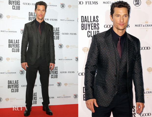 Matthew McConaughey In Dolce & Gabbana - 'Dallas Buyers Club' Rome Premiere