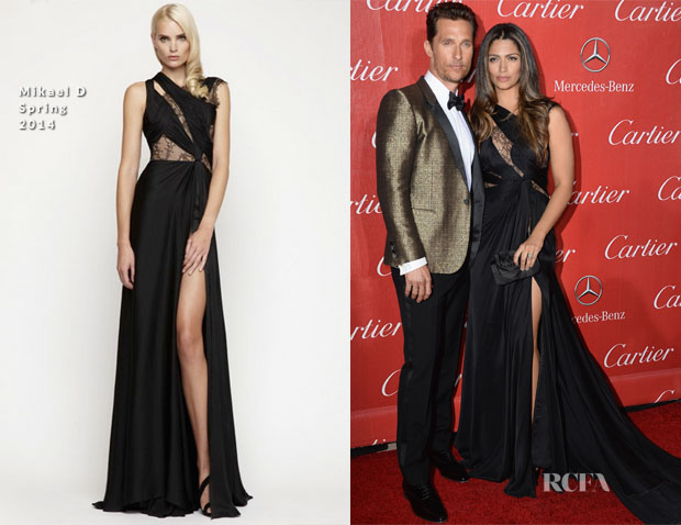 Matthew McConaughey In Saint Laurent and Camila Alves In Mikael D - 2014 Palm Springs International Film Festival Awards Gala