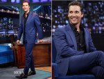 Matthew McConaughey In Versace - 'Late Night with Jimmy Fallon'