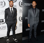 Michael B. Jordan In Calvin Klein & Viktor & Rolf Monsieur - New York Film Critics Circle Awards & 2014 National Board Of Review Awards Gala