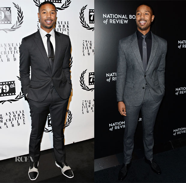 Michael B Jordan In Calvin Klein & Viktor & Rolf Monsieur - New York Film Critics Circle Awards & 2014 National Board Of Review Awards Gala