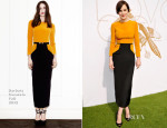 Michelle Dockery In Barbara Casasola - LoveGold Luncheon Honouring Michelle Dockery