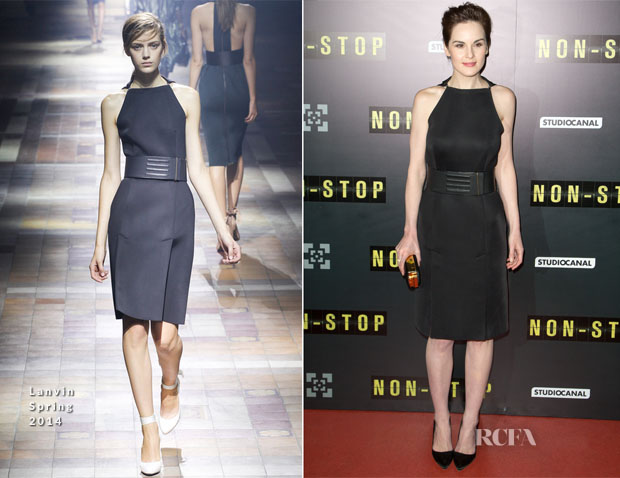 Michelle Dockery In Lanvin - 'Non Stop' Paris Premiere