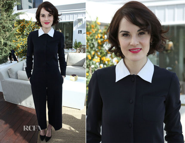 Michelle Dockery In Moschino - DuJour Magazine Cover Party