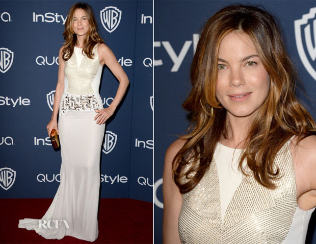Michelle Monaghan In Antonio Berardi - InStyle and Warner Brothers Golden Globes Awards Party