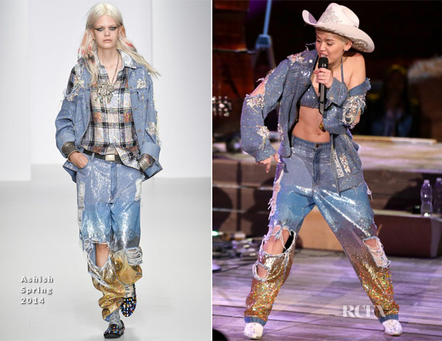 Miley Cyrus In Ashish - Miley Cyrus MTV Unplugged