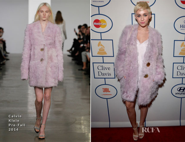 Miley Cyrus In Calvin Klein Collection - Pre-Grammy Awards Gala