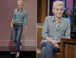 Miley Cyrus In Saint Laurent - The Tonight Show with Jay Leno