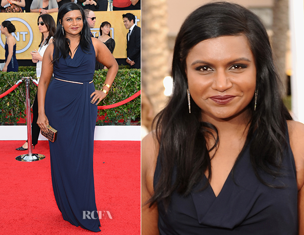 Mindy Kaling In David Meister - 2014 SAG Awards