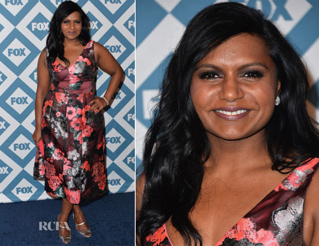Mindy Kaling In Lela Rose - 2014 Fox All-Star Party