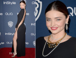 Miranda Kerr In Emilio Pucci - InStyle and Warner Brothers Golden Globes Awards Party