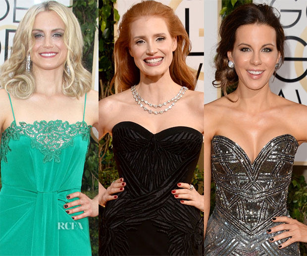 Nail Trend Spotting 2014 Golden Globes Moody Darks