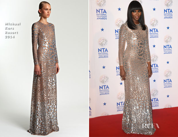 Naomi Campbell In Michael Kors - National Television Awards 2014