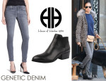 Nicole Richie's Genetic Denim 'Shya' Skinny Jeans And House Of Harlow 1960 'Warner' Booties