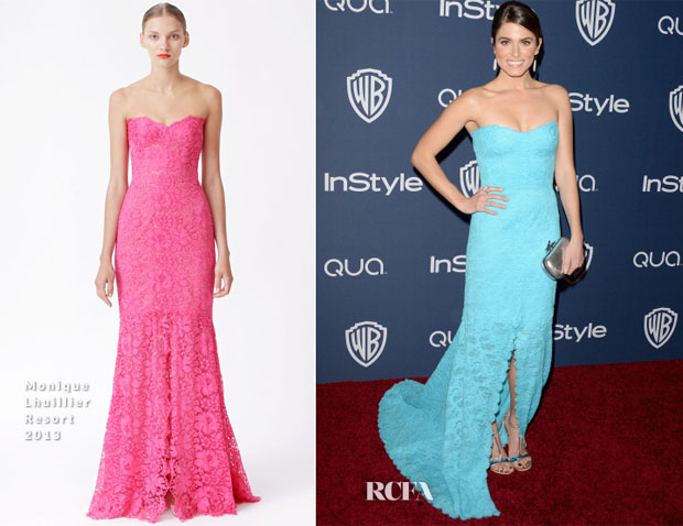 Nikki Reed in Monique Lhuillier - InStyle and Warner Brothers Golden Globes Awards Party 2