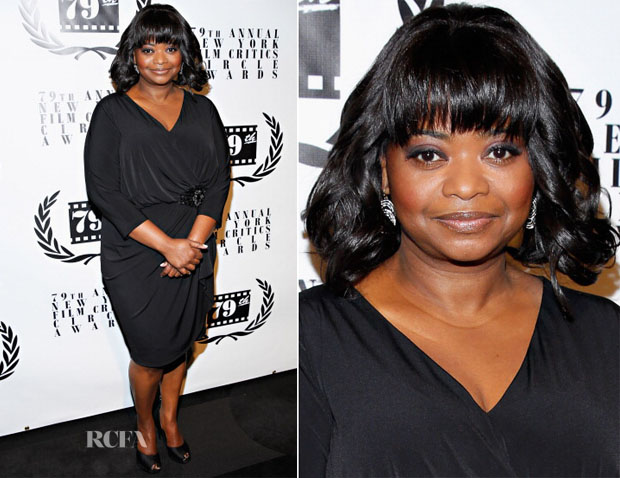 Octavia Spencer In David Meister - New York Film Critics Circle Awards