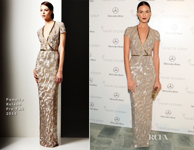 Odette Annable In Pamella Roland - Art of Elysium Heaven Gala