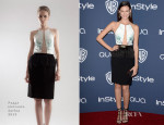 Odette Annable In Peggy Hartanto - InStyle and Warner Brothers Golden Globes Awards Party