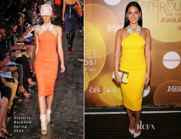 Olivia Munn In Victoria Beckham - Variety's Breakthrough of the Year Awards