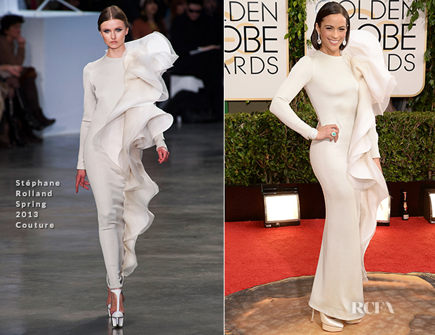 Paula Patton In Stephane Rolland Couture - 2014 Golden Glove Awards