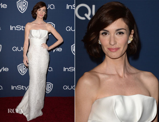 Paz Vega In J Mendel - InStyle and Warner Brothers Golden Globes Awards Party