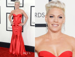 Pink In Johanna Johnson - 2014 Grammy Awards