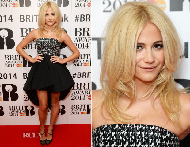 Pixie Lott In Christian Dior - BRIT Awards Nominations