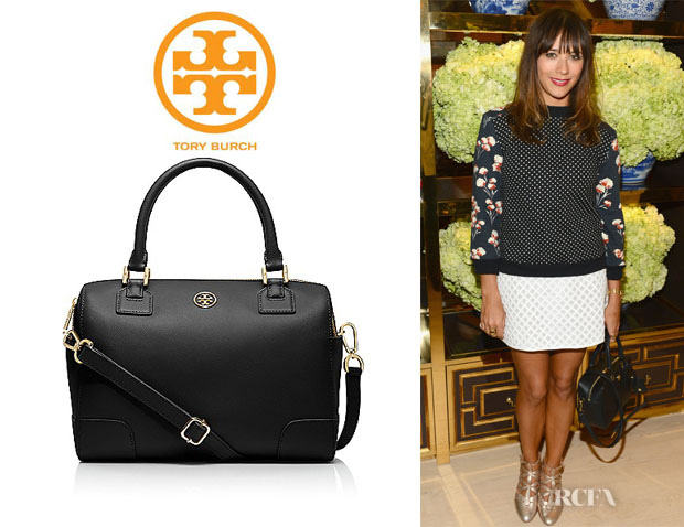 Rashida Jones' Tory Burch 'Robinson Middy' Satchel