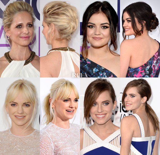 Red Carpet Trends People's Choice Awards Effortless Updo's