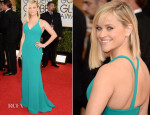 Reese Witherspoon In Calvin Klein Collection - 2014 Golden Globe Awards