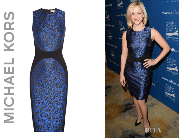 Reese Witherspoon's Michael Kors Camouflage-Jacquard Dress
