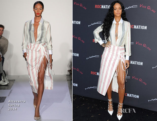 Rihanna In Altuzarra - Roc Nation Pre-Grammy Brunch