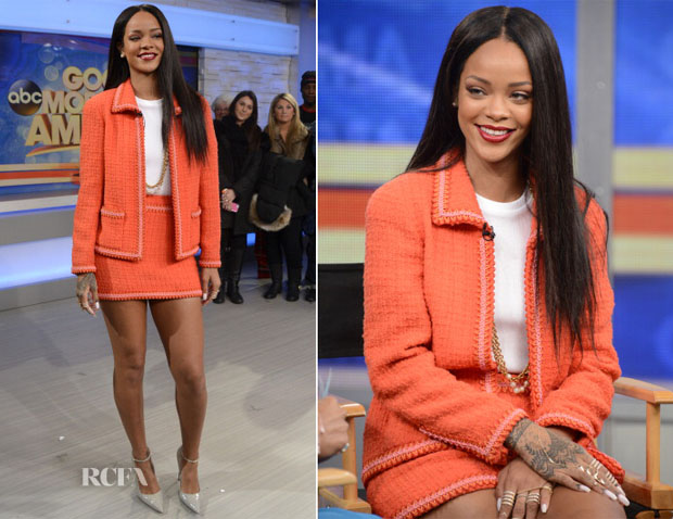 Rihanna In Chanel - Good Morning America