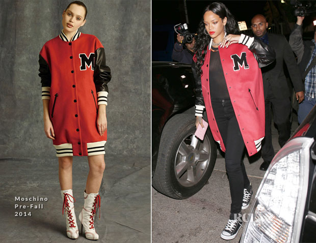 Rihanna In Moschino - Jay-Z's Pre Grammy Party