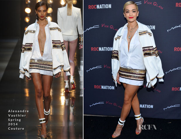 Rita Ora In Alexandre Vauthier Couture - Roc Nation Pre-Grammy Brunch