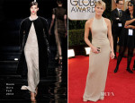 Robin Wright In Reem Acra - 2014 Golden Globe Awards