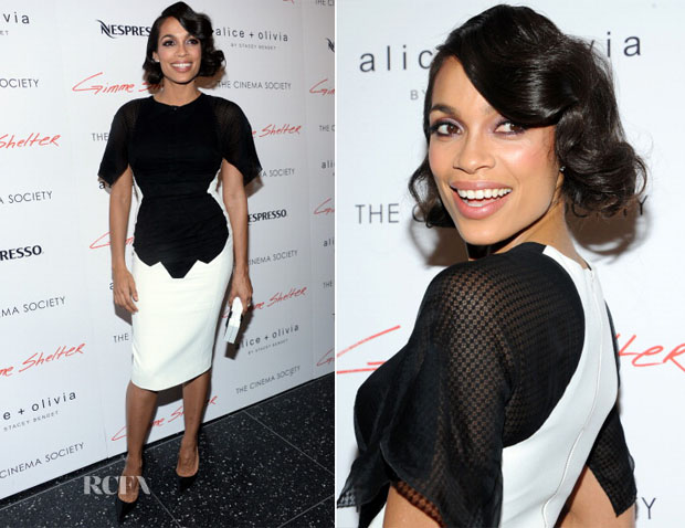 Rosario Dawson In Antonio Berardi - 'Gimme Shelter' New York Screening