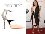 Rosario Dawson's Jimmy Choo 'Sunday' Ankle Strap Pumps
