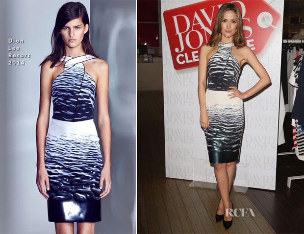 Rose Byrne In Dion Lee - David Jones Boxing Day Sale