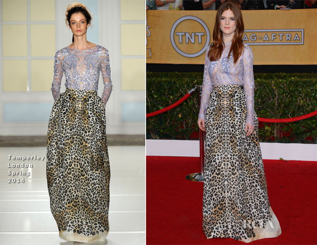 Rose Leslie In Temperley London - 2014 SAG Awards