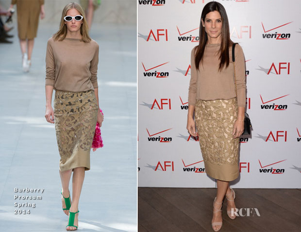 Sandra Bullock In Burberry Prorsum - AFI Awards 2014