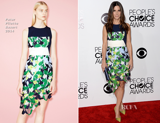 Sandra Bullock In Peter Pilotto - 2014 People's Choice Awards