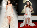 Sara Bareilles In Blumarine - 2014 Grammy Awards