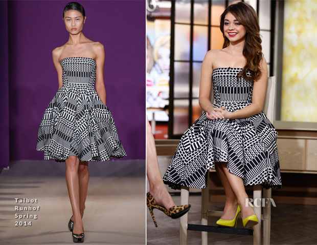 Sarah Hyland In Talbot Runhof - The Today Show