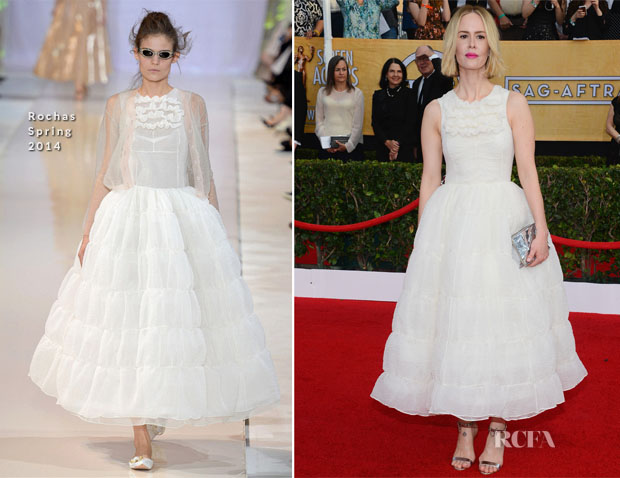 Sarah Paulson In Rochas - 2014 SAG Awards