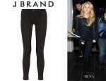 Shakira's J Brand '485 Luxe Sateen' Mid-Rise Skinny  Jeans