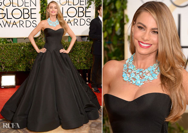 Sofia Vergara In Zac Posen - 2014 Golden Globe Awards